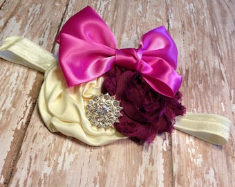 baby headband, baby girls headbands, flower headband, newborn headband, baby, girl