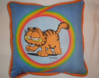 Upcycled Vintage Garfield Pillow