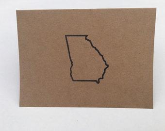Georgia Greeting Card / set of 10 / Georgia Peach