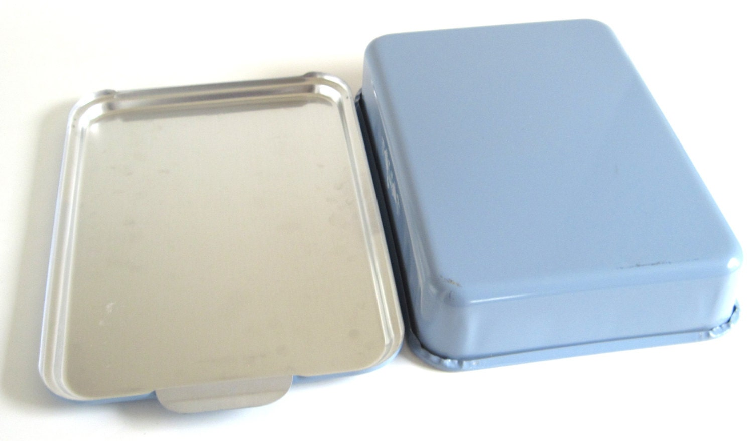 Foley 9 X 13 Cake Pan Snap On Lid Covered Aluminum Blue Gray