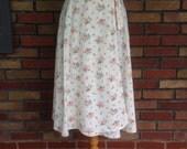 Vintage 1970s floral cotton seersucker wrap skirt