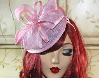 Pink Fascinator Hat - Light Pink Kentucky Derby Hat Tea Party Fascinator Hat - Wedding Fascinator Hat - British Fascinator