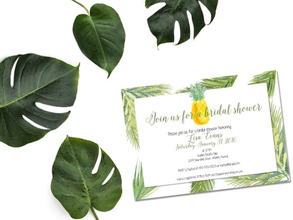 Printable aloha bridal shower invitationpineapple invitation il570xn filmwisefo