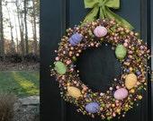 Easter Wreath - Easter Decoration - Egg Wreath