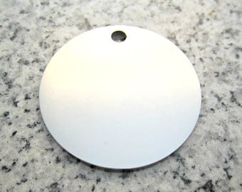 """1 1/2"""" (38MM) Round Disc Stamping Blanks 2mm Thick, Stainless Steel - AWESOME Silver Alternative R12H-2MM"""