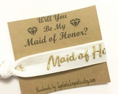 Maid of Honor Proposal - Will You Be My Maid of Honor Gift - Maid of Honor Gift - Maid of Honor Hair Tie - Hair Tie Favors - Hair Tie Gifts