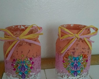 Handmade main jars. Great for the kitchen or any outside party