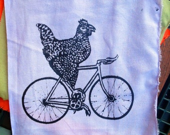 Chicken on a Bicycle Patch