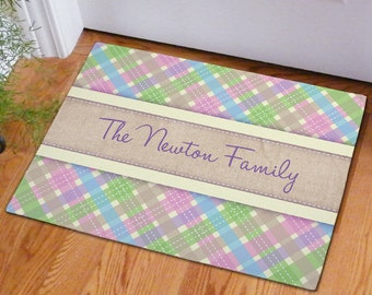 Personalized Easter Family Doormat -gfy83182937S
