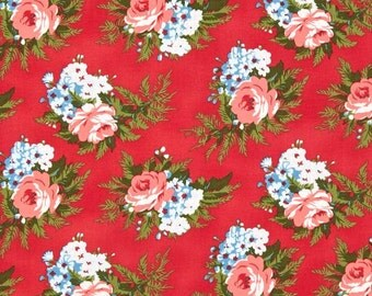 78087 - Verna Mosquera Indigo Rose Corsage in Cherry color PWVM135 - 1 yard