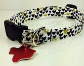 Metallic Hearts - Dog Collar - Adjustable