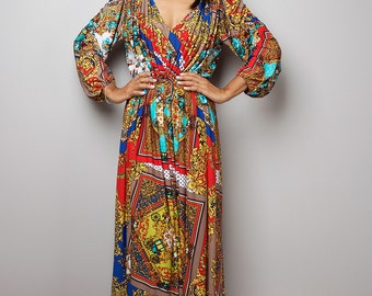 Maxi Dress - Long Sleeved Boho Dress : Funky Elegant Collection no 22