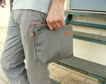 Waxed canvas carry all bag/ pouch organizer- Ref 23160- gift for him -  travel organizer- travel accesories