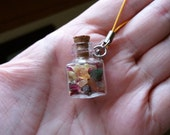 RESERVED - Adorable Witch Bottle - Loved By All - Keychain/Lanyard/Phone Charm