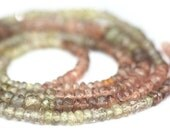Valentines Sale Garnet Micro Faceted Rondelles 2 Inches Color Change Semi Precious Gemstone