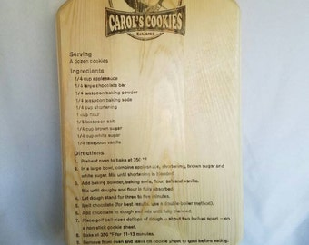 Carol's Cookies Recipe Walking Dead Wall Plaque