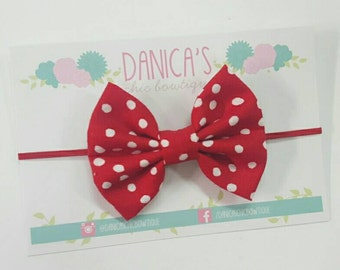 New, Valentines { Katie } Red polka dot bow or headband . Valentine headband, baby girl headband, newborn headband