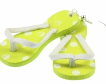[BUNDLE] Slippers earrings Tythes Renner green sandals