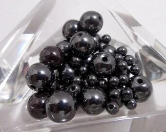 Gunmetal Black Metal Beads, Metallic Black Metal Beads, Jewelry Beads, Jewelry Supplies, Black Metal Beads, Bead Supply, Metallic Goth BEADS