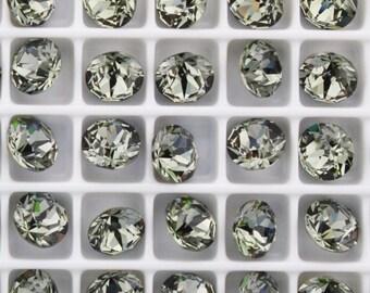 Swarovski 1088 Black Diamond  29ss Crystal Chatons Foiled