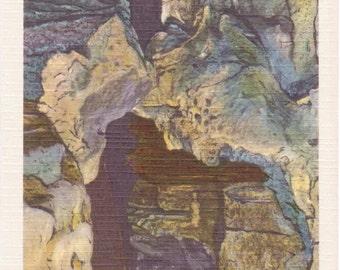 Howe Caverns, New York, The Kissing Bridge - Linen Postcard - Unused (A5)