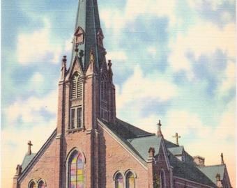 Freeland, Pennsylvania, St. John's Roman Catholic Church - Vintage Postcard - Postcard - Unused (A6)