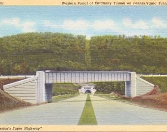 Pennsylvania Turnpike, Kittatinny Tunnel, Western Portal - Vintage Postcard - Postcard - Unused (H)