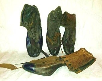 Victorian Leather Shoes (4) No Pairs