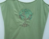 Embroidered Earth Tree Summer Cami, Women's Cami, Size XXL (19) Juniors
