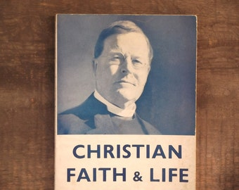 Christian Faith and Life, vintage 1950s paperback book by William Temple