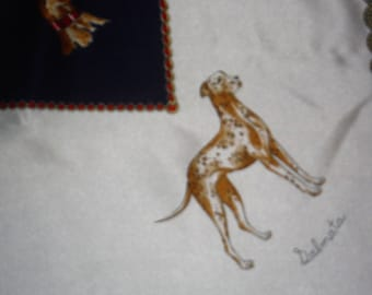 Classic dog patterned silk scarf