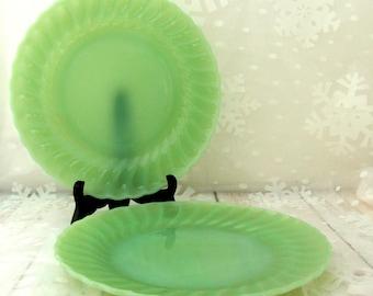 Jadite Swirl Plates, Jadite Swirl Dinner Plates, Anchor Hocking Jadeite, Jadeite Plate, Jadite Dinnerware, Jadite Place Setting,