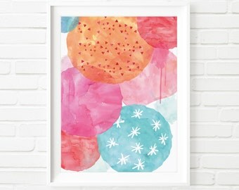 Abstract Art Print, Printable Art, Abstract Digital Painting, Abstract Wall Art, home decor, kids print, office decor, watercolor print