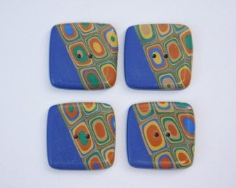 Square Polymer Clay Sewing Buttons