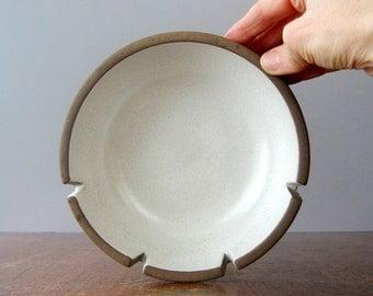 Two Mid Century Heath Ceramics Ashtrays Ridged / White