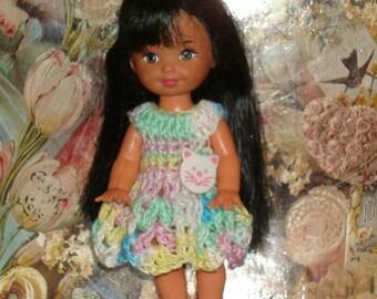 Handmade Crochet Dress For Kelly Barbie number  1043