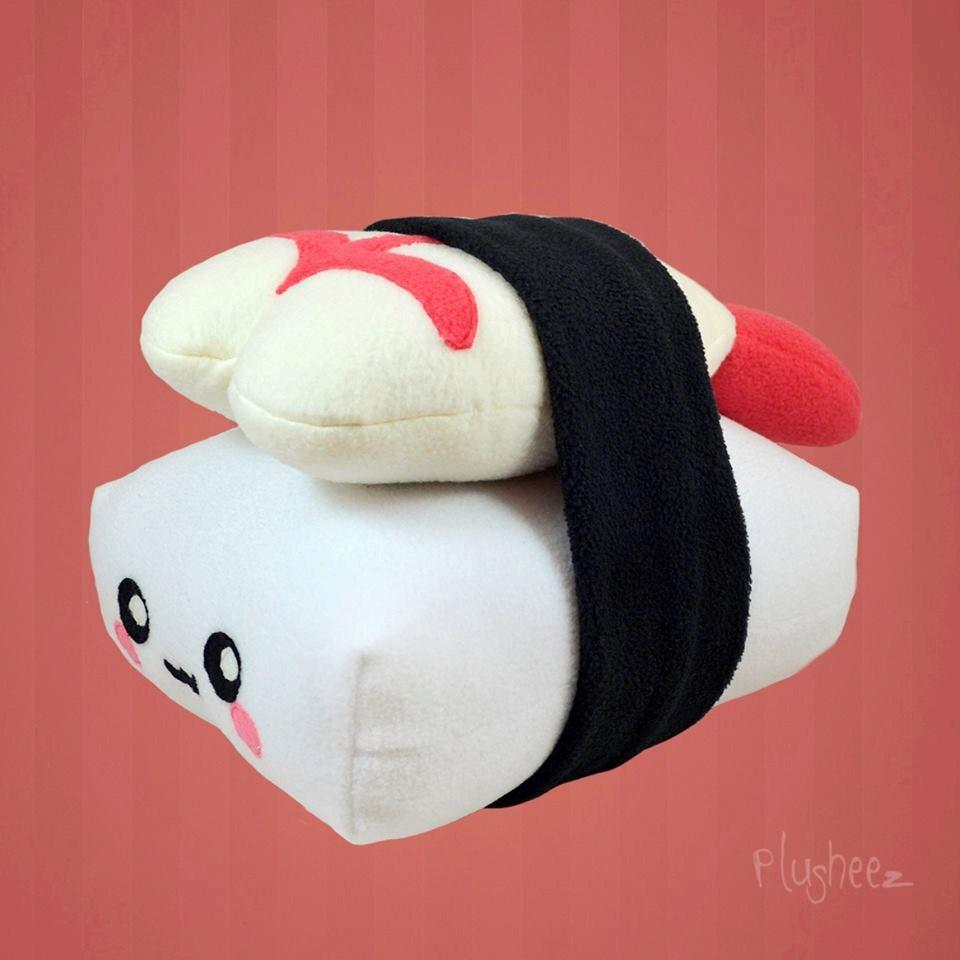 Decorative Plush Pillows : Nigiri Sushi pillow / plush toy / decor pillow / cushion