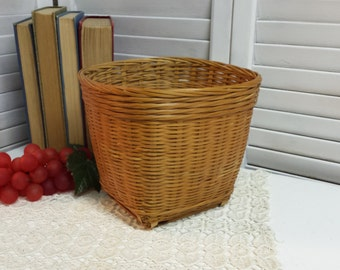 Vintage Basket Plant Holder Storage Basket Flower Basket