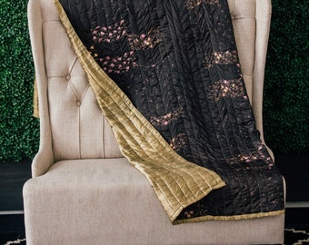 Sari Quilt, Kantha Quilt, Indian Quilt