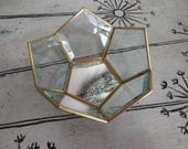 Geometric Glass And Brass Dish Storage Air Plants Terrarium Plant Globe Air Plant Planter Glass Box Display Box Vintage Terrarium