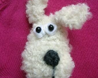Crochet Pattern for Delphine the Dog Brooch