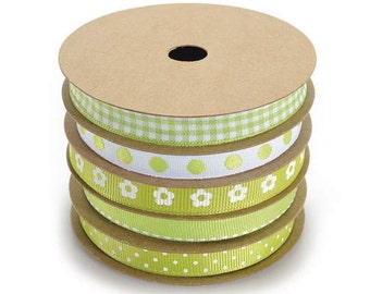 Ribbons Green Grass Set of 5