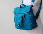 Back To School SALE - 30% Pico2 Backpack  in Dark Teal (Water Resistant) Satchel / Laptop / Shoulder Bag / Rucksack/Diaper Bag/ School Bag/