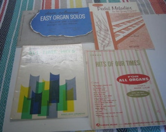 Four Vintage Music Books for the Organ