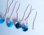 Thread #Earrings in #Blue and #Teal you get #Both #Pair #Sterling #Silver #Thread #Earrings