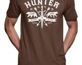 Hunter Arrow & Sword T Shirt tee - American Apparel Tshirt - S M L XL 2X (Color Options)