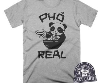 Panda Eating Pho Soup T Shirt Funny Pho Real T Shirt Asian Food TShirt Vietnamese Food T Shirt Noodles T Shirt Mens Womens T Shirt Geek Gift