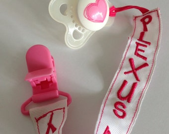 Plexus Pacifier Holder- HOT PINK/GIRL