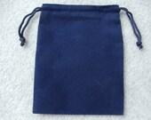 Blue Velvet Drawstring Pouch 4X5.5 Inch Set of 10 Blue Velvet Bags (Pouch2-B Blue)