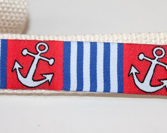 Anchor Dog Collars Nautical Dog Collar REd Dog Collar and Leash ANchor Leash and Collar Set Anchor Dog Leash Brown and Navy Dog Collar Set